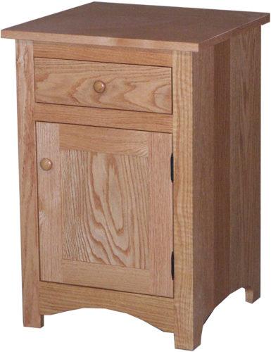 Amish Oak Shaker Narrow Nightstand