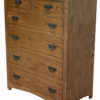 Amish Shaker Narrow Six Drawer Chest