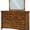 Amish Rustic 1/4 Sawn Tacoma 9 Drawer Mule Dresser