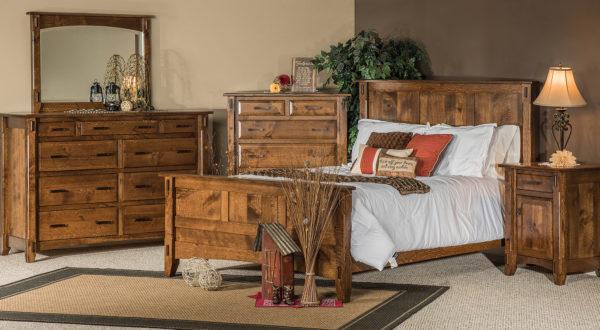 Rustic 1/4 Sawn Tacoma Bedroom Set