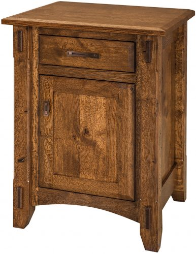 Rustic 1/4 Sawn Tacoma Small Nightstand
