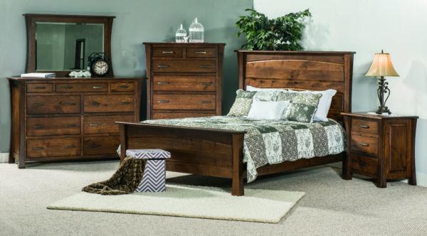 Rustic 1/4 Sawn Vandalia Bedroom Set