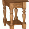 Amish Grand Harvest End Table with Drawer