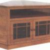 Amish Granny Mission Enclosed Base Corner TV Cabinet