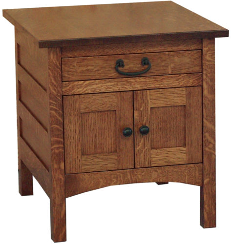 Amish Granny Mission Enclosed End Table