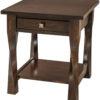 Amish Wide Lexington End Table