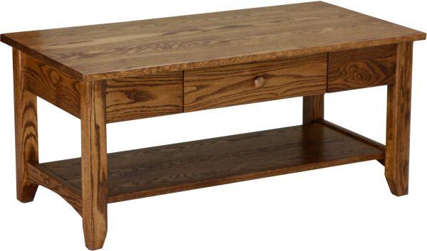 Amish Shaker Open Oak Coffee Table