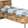 Amish Headboard Storage Bed Shown Open
