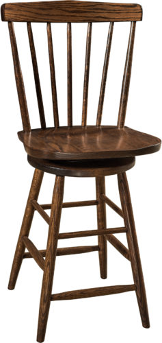 Amish Cantaberry Hardwood Swivel Bar Stool