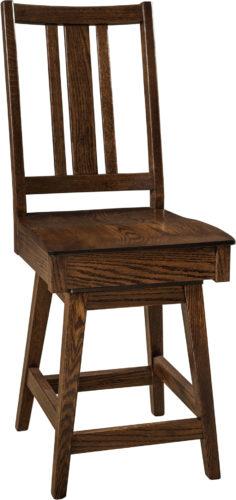 Amish Eco Hardwood Swivel Bar Stool