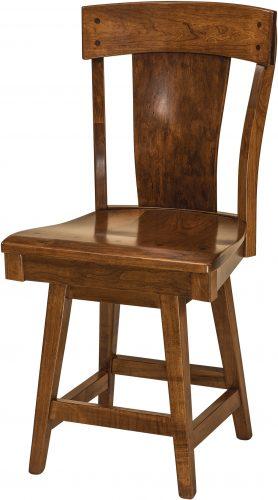 Amish Lacombe Hardwood Swivel Bar Stool