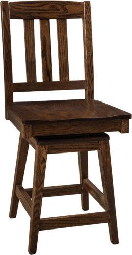 Amish Lodge Hardwood Swivel Bar Stool