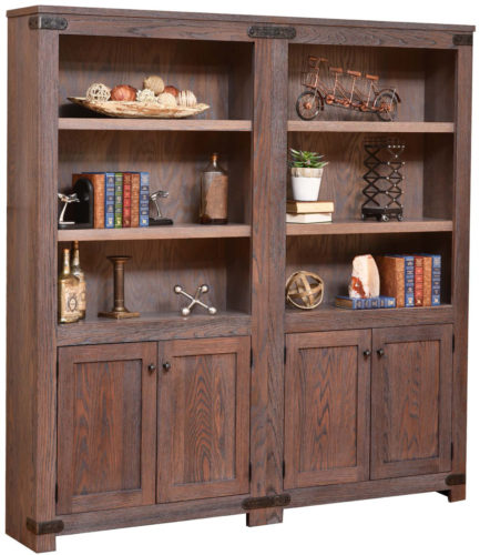 Amish Georgetown Double Bookcase