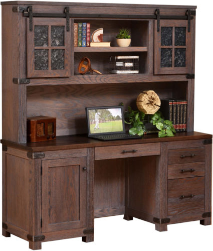 Amish Georgetown Credenza and Hutch