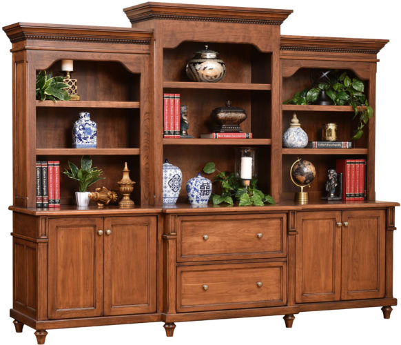 Amish Bridgeport Base and Three Piece Hutch