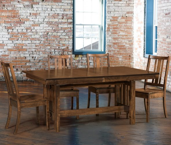Amish Eco Trestle Table Dining Room Collection