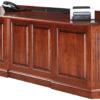 Amish Buckingham Executive Desk Back Detail