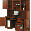 Amish Buckingham Credenza with Hutch Open