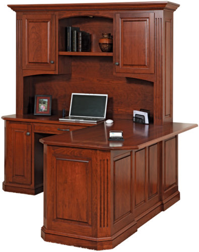 Amish Buckingham Corner Desk with Hutch