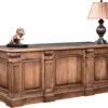 Amish Montereau Executive Desk Back Detail