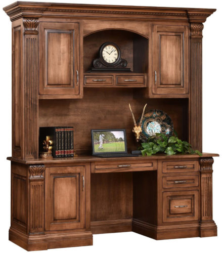 Amish Montereau Credenza and Hutch