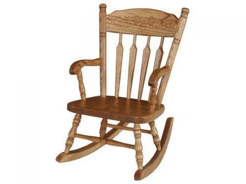 Amish Wooden Acorn Child Rocker