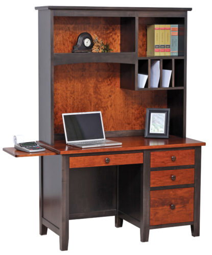 Amish Manhattan Work Station with Hutch