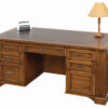 Amish Lincoln Executive Wood Desk