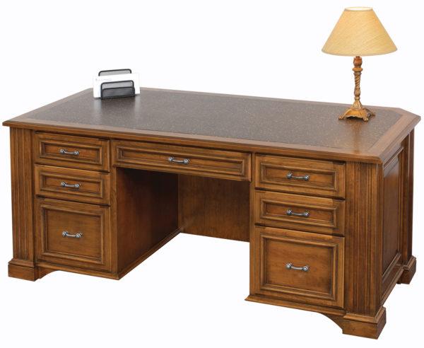 Amish Lincoln Executive Wood Desk