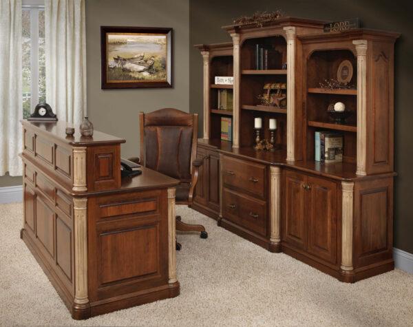 Amish Jefferson Series Executive Office Set