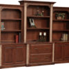 Amish Jefferson XL Base and Three Piece Hutch