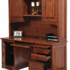 Amish Liberty Classic Credenza and Hutch Open