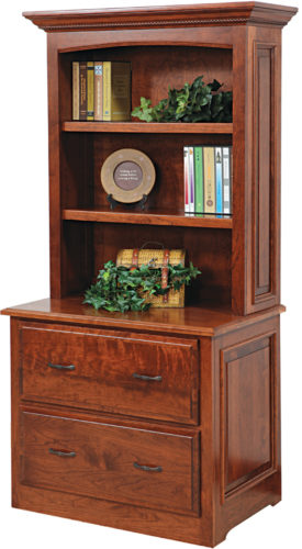 Amish Liberty Lateral File Cabinet with Hutch