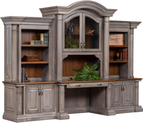 Amish Paris Base with Three Piece Hutch