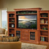 Amish Buckingham Entertainment Center with Bookcases