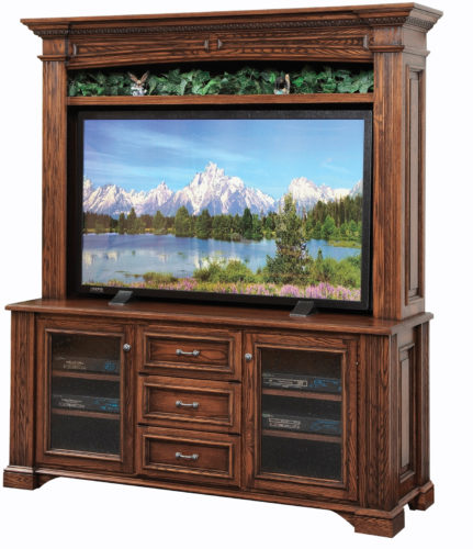 Amish Lincoln Plasma TV Stand with Hutch