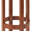 Amish Barrel Barstool with Wood Seat