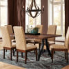 Amish Bradbury Dining Chair Set with Iron Forge Table
