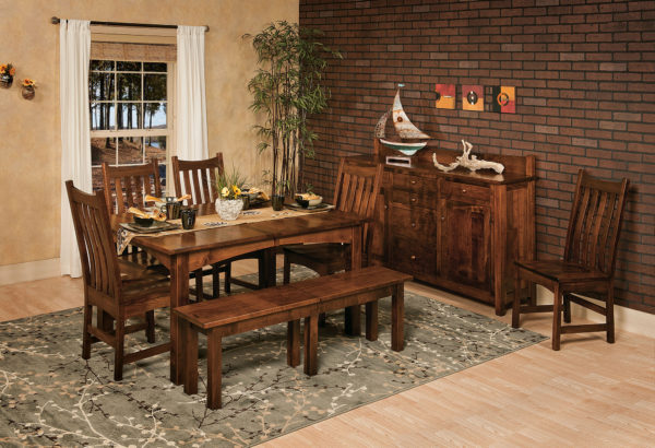 Amish Heidi Leg Table Dining Room Set