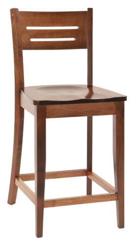 Amish Jansen Wooden Bar Chair