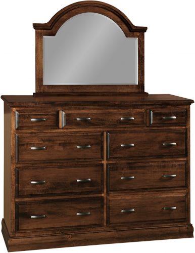 Amish Adrianna 9 Drawer Dresser