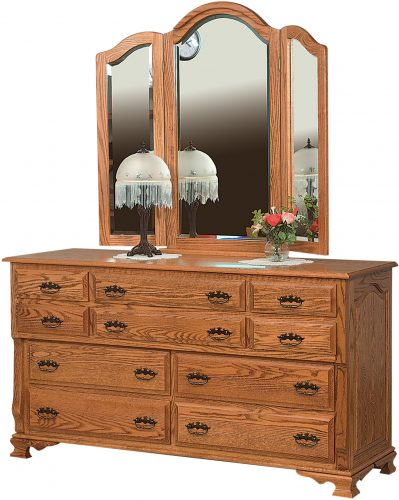 Amish Classic Heritage 10 Drawer Dresser
