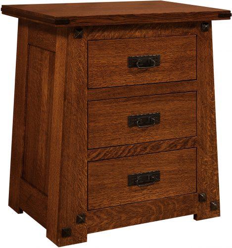 Amish Encada 3 Drawer Nightstand