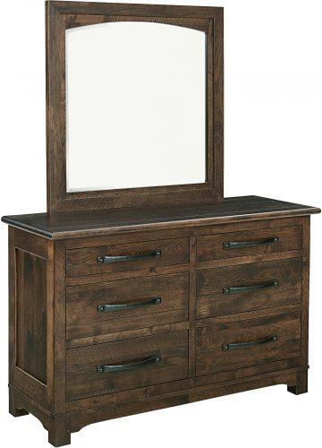 Amish Farmhouse Large Six Drawer Dresser