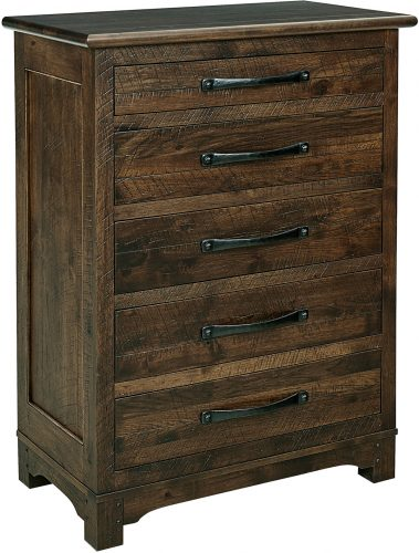 Amish Farmhouse 5 Drawer Chest