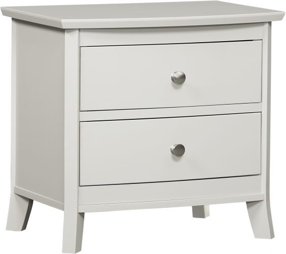 Amish Laurel Two Drawer Nightstand