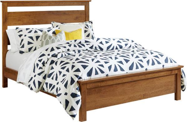 Amish Medina Wood Slat Bed
