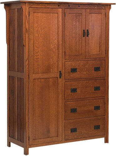 Amish Royal Mission Four Drawer Chifferobe