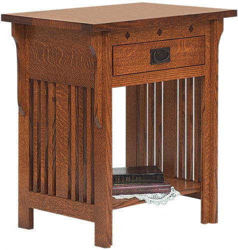 Amish Royal Mission Open Slat Nightstand