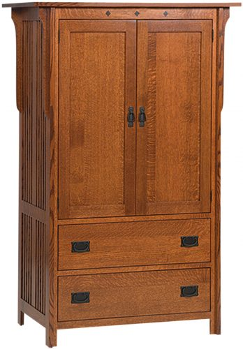Amish Royal Mission Two Drawer Armoire